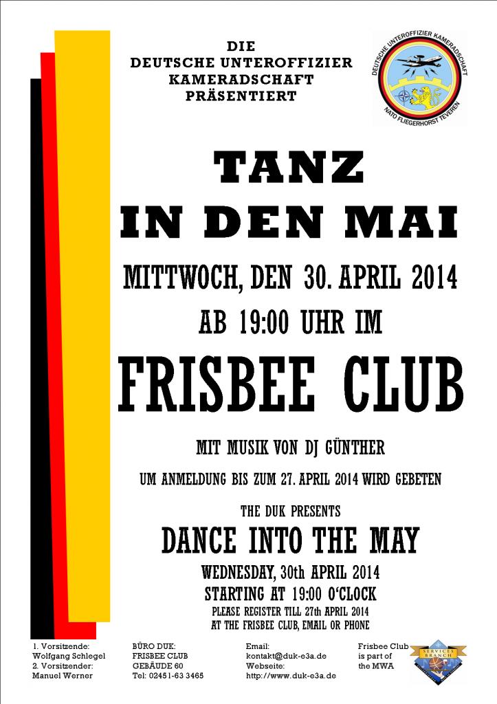 Flyer 2014 Tanz in den Mai